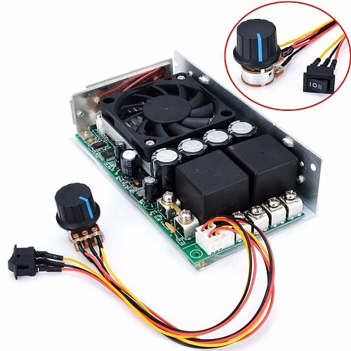 DC 10-50V Speed Controller 100A 3000W Programable Reversible PWM Control Motor Speed Controller