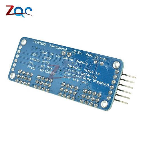 PCA9685 16 Channel 12Bit PWM Servo Motor Driver Board Controller IIC Interface for Arduino Raspberry Pi Zero/Zero W/Zero Robot