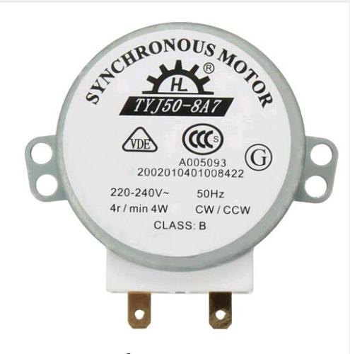 AC 220V-240V 4W 50Hz CW/CCW Microwave Turntable Turn Table Synchronous Motor TYJ50-8A7 D Shaft 4 RPM