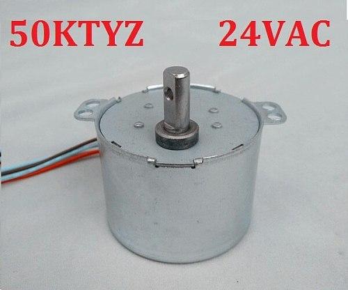 2PCS 50KTYZ 24V AC 6-8W 1, 2.5, 5, 8, 10, 15, 20, 30, 50, 80 100RPM,Permanent Magnet Synchronous Gear Motor