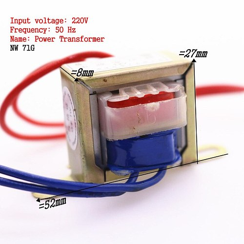 Wholesale Precision Electronic Equipment 1pcs 1w Step-down Ac220v To Ac Single 12v Ac Motor Copper Core Transformer 90ma