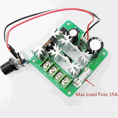 DC6-90V Motor Speed Control Regulator PWM Motor Speed Controller Switch 15A Current Regulator High Power Drive Module