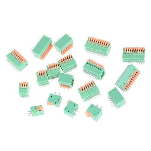 5PCS HUXUAN KF141R KF141V 2.54mm Pitch PCB Straight Foot Connectors 2/3/4/5/6/7/8/9/10P Spring Screless Copper Terminal Block