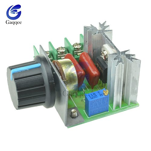 AC 220V 2000W Motor Speed Controller SCR Voltage Regulator Dimming Dimmers Thermostat Motor Controller