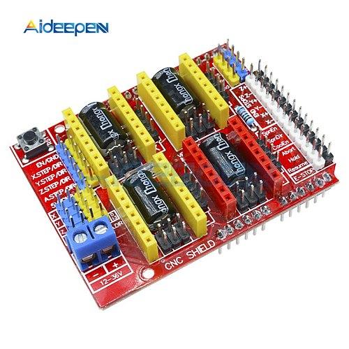 1Pcs CNC A4988 Shield Expansion Board V2.0 V3.0 V4.0 A4988 Driver Module For Arduino DIY Kit 3D Printer Engraving Machine