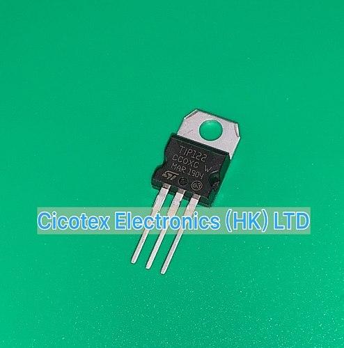 10pcs/lot TIP122 TO220 TIP122-G TRANS NPN DARL 100V 5A TO-220AB TIP122G TIP 122 TIP122TU T1P122
