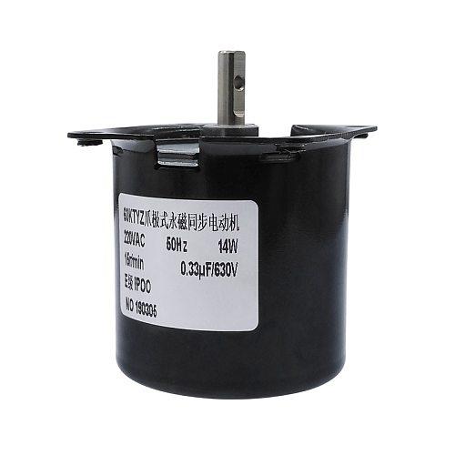 60KTYZ Permanent Magnet Synchronous Motor AC220V 14W Gear Motor 2.5/5/10/15/20/30/50/60/80/110rpm