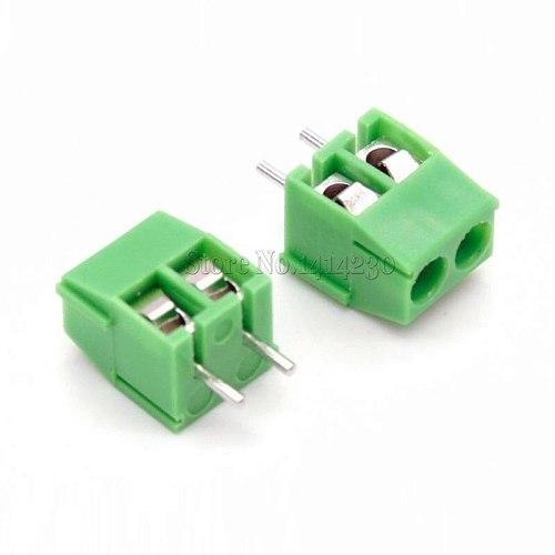 50PCS KF350-2P 3.5mm Pitch 2Pin 2 way Straight Pin PCB Screw Terminal Block Connector