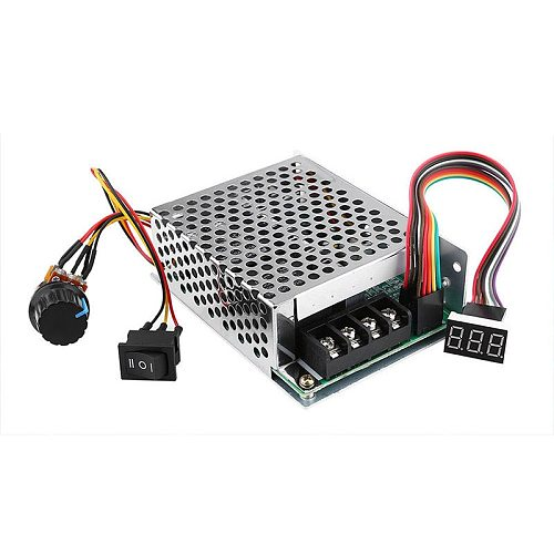 Regulating Current DC Speed Controller DC10-55V 12V 24V 36V 60A PWM Motor Speed Controller CW CCW Reversible Switch