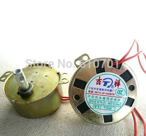 TYD49 CW/CCW Round Claw-Pole Permanent Magnet Synchronous Motor 49TYD 220V 5RPM 15RPM 33RPM Floor Fans Bobble Head