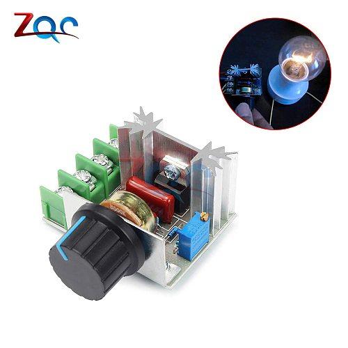 AC 220V 2000W SCR Voltage Regulator LED Dimming Motor Speed Controller Thermostat Electronic Voltage Regulator Dimmer Module