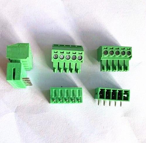 10sets Plug-in terminal block KF2EDGK-pitch 3.5MM 2P 3P 4P ~ 10P Phoenix terminal curved needle seat