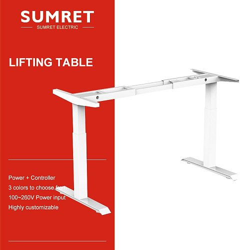 electric table lift desk lifting column intelligent smart adjustable Height Two foot noiseless Bounce back Overheating protectio
