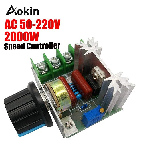 Speed controller AC 25A 50-220 V Engine Controller 2000 W SCR High Power Module Electric Voltage Regulator LEVOU Dimmers engine