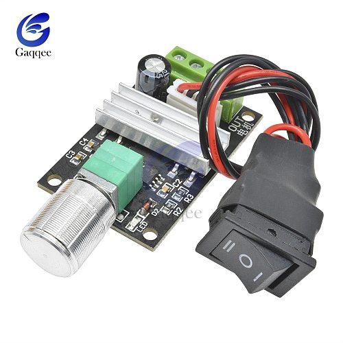 DC 6V 12V 24V 28V 3A 80W PWM Motor Speed Controller Regulator Adjustable Variable Speed Reversible Control Potentiometer Switch