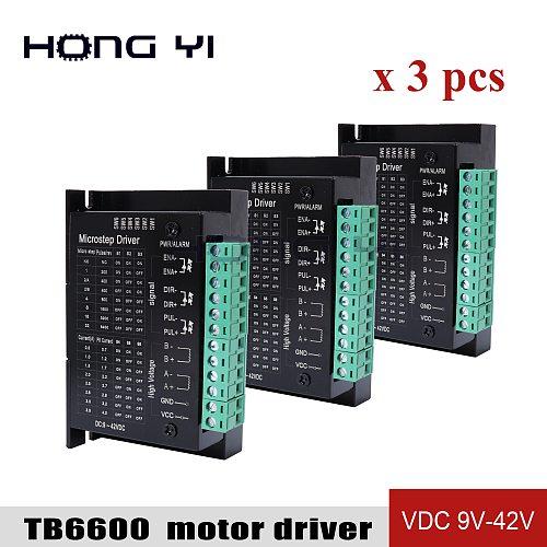3PCS Stepper Motor Driver TB6600 upgrade s109aftg Nema 23 Nema  Nema17 4A DC9-40V 1 axis Stepping Motor CNC Engraving Machine