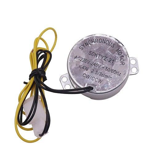 1pcs AC 220V Mini incubator motor Incubator Accessories Synchronous Motor 50ktyz-21 AC220v 4w 2.5r / Min For Hatching Machine