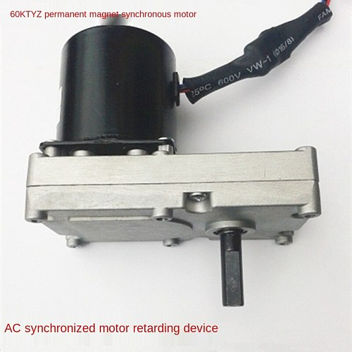 60KTYZ AC Permanent Magnet Synchronous Gear Motor / Oven Greenhouse Rotary Motor 1 Turn IE 2 50hz Cn(origin) Single-phase CCC,CE