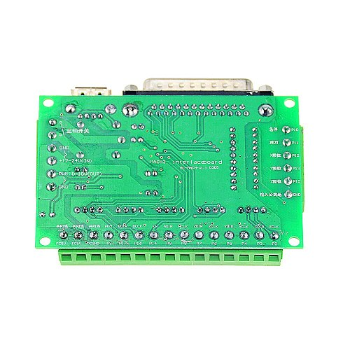 1PCS Green MACH3 Engraving Machine 5 Axis CNC Breakout Board With Optical Coupler For Stepper Motor Drive Controller