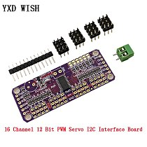 16 Channel 12 Bit PWM/Servo Driver Board I2C interface PCA9685 For Raspberry pi IIC PWM Controller shield Module Servo Shield