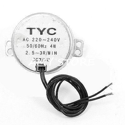 Permanent Magnet TYC-50(49) Model 0.8-1/2.5-3/5-6/8-10/10-12/15-18/20-24/30-36RPM Synchronous Motor 220-240VAC 4W 50/60Hz CCW/CW