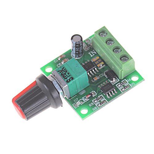 5V 12V 30W 2A DC 1.8V -15V PWM Motor Speed Controller Regulator Low Voltage Fan Speed Control Switch PWM Adjustable Drive