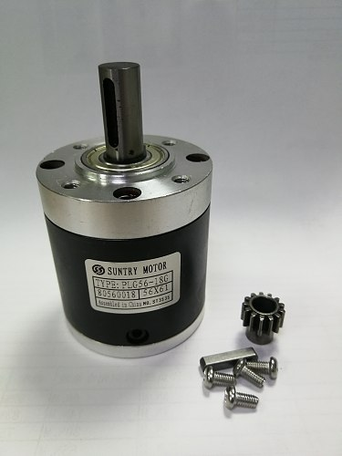 Ratio 3.6: 1 / 4.25: 1 planetary reducer 56mm Round input flange for DC motor with motor shaft diameter 6mm or 6.35mm or 8mm