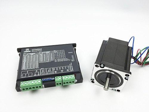 CNC Single axis Kit ,2DM542 Stepper Motor Driver 4.2A 24-48V 256 Sub replace M542,2M542 stepper driver 312z/in stepper motor