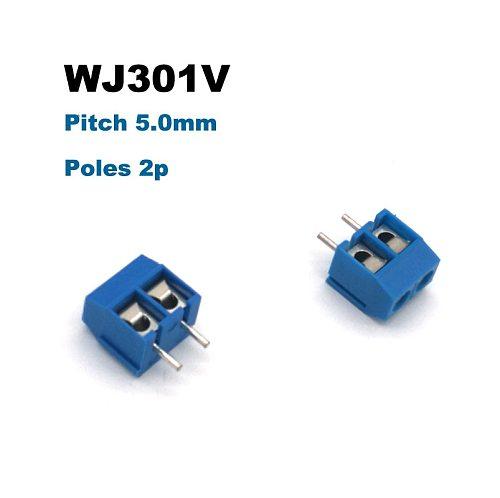 5/20pcs Pitch 5mm 2P 3P Screw PCB Terminal Block Splice Connectors bornier 301V Straight Pins wire cable Brass morsettiera 15A