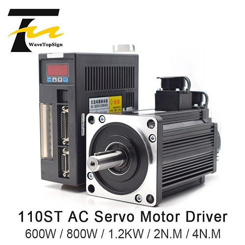 AC Servo Motor Driver 600W 1.2KW 220V 5N.M 6A 3000rpm 110ST Series AC Motor Matched Servo Driver AASD 30A Complete Motor kit