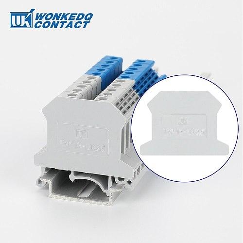 10pcs UK series Terminal Block Accessories  End Cover Plate Din Rail Terminal Blocks
