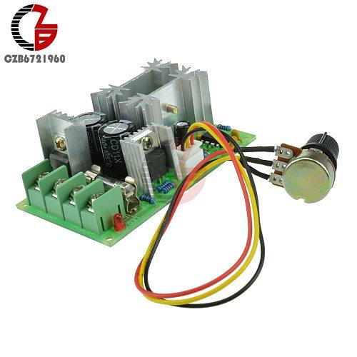1200W 20A PWM DC Motor Speed Controller DC 10V-60V Adjustable Speed Control Switch 12V 24V Fan Motor Speed Regulator Governer