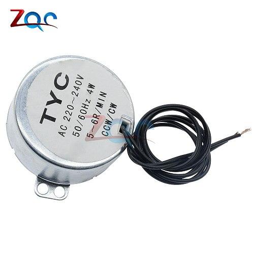 AC 220-240V /AC 12V 50/60Hz Synchronous Motor 5-6RPM Robust Torque 4W CW/CCW TYC-50