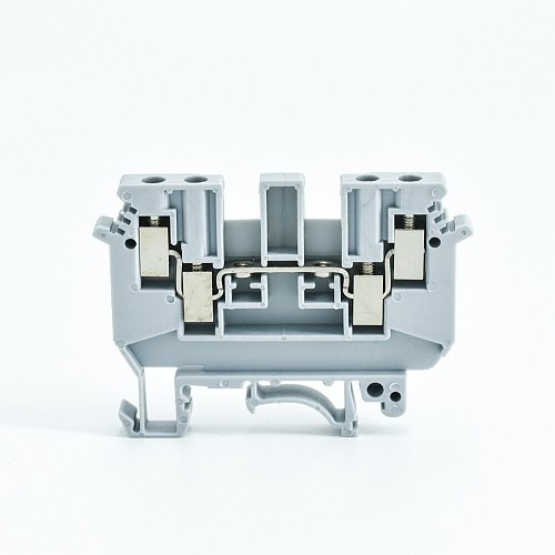 Din Rail Terminal Blocks 10Pcs UDK-4 Feed Through Screw Connection Multi Conductor  Wire Conductor UDK4