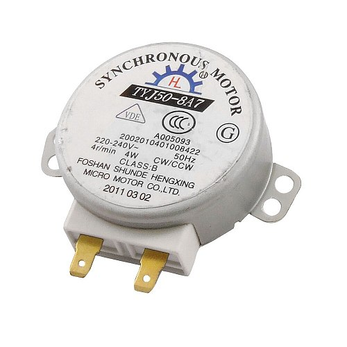Uxcell New Arrival AC 220-240V 4W 4RPM 50/60Hz CW/CCW Micro Synchronous Motor for Microwave Oven 74g High Quality TYJ50-8A7