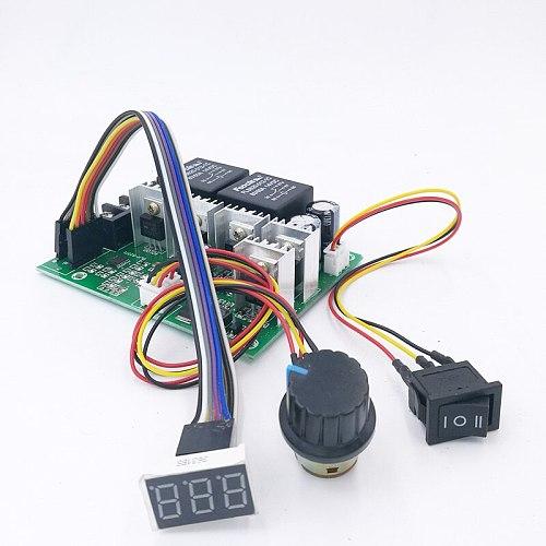 Digital display PWM speed controller  DC motor 0~100% adjustable drive module Input 12V 24V 40A