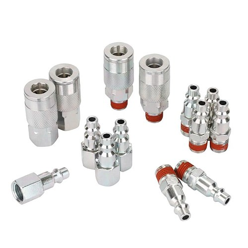 14 Pieces 1/4 Inch Npt Quick Connect Air Coupler And Plug Kit for Air Compressor Accessories Fittings