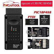 OP COM opcom V1.99 With real PIC18F458 FTDI FT232RL Chip OBD2 Diagnostic Tool OP-COM For Opel OPCOM v1.78 70 Can be flash update