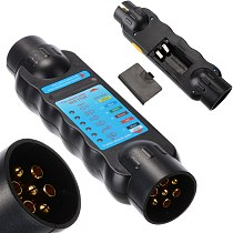New 12V 7 Pin Car Towing Light Tester Trailer Caravan Towing Tow Bar Light Wiring Circuit Tester Plug Socket Diagnostic Tools