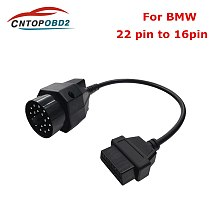 OBD2 Adapter Cable 20 pin to 16 PIN Female Connector BMW e36 e39 X5 Z3 for BMW 20pin OBD II  Diagnostic Cable