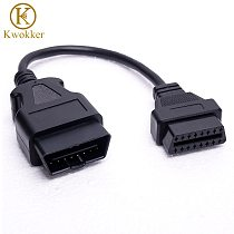Wholesale 30cm OBD2 Cable 16 Pin to 16pin Socket Male To Female Extension Cord Car Diagnostic Adapter OBDII OBD 2 Cable