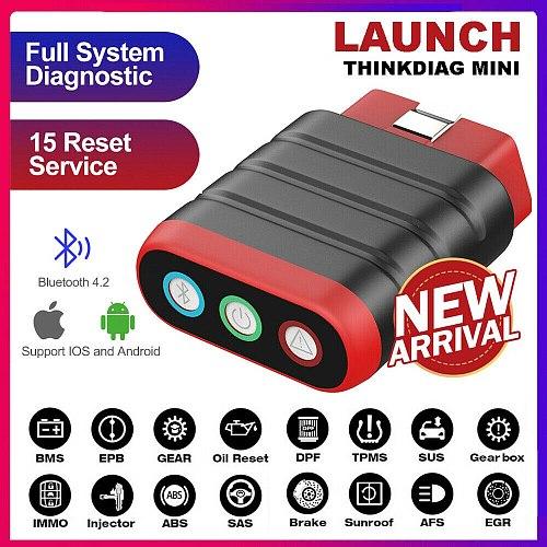 Thinkcar Thinkdiag Mini OBD2 Scanner Bluetooth Professional OBD 2 Automotive Scanner 15 Reset Service Easydiag Diagnostic Tool