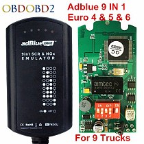 Latest Adblue Emulator 9 in 1 8 in 1 Adblue Emulation Tool 8in1 With NOx Sensor Adblue Emulator 9IN1 Support Euro 4 5 6 Truck