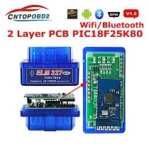 ELM327 Bluetooth V1.5 PIC18F25K80 ELM327 V1.5 OBD2 Scanner ELM 327 WIFI Adaper Car Disgnostic Scanner for Android/IOS/PC OBD II