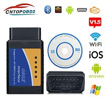OBD2 ELM327 Wifi V1.5 OBDII Auto Scanner ELM 327 Bluetooth/WiFi V1.5 OBD 2 Car Diagnostic Tool For Android/IOS/PC Code Reader