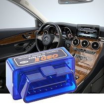 Blue ELM327 OBD2 II Mini Bluetooth Car Diagnostic Auto Diagnostic Interface Scanner Tool Portable ABS Tool dfdf