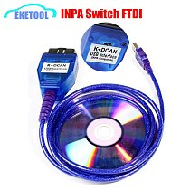For BMW INPA Ediabas K+DCAN Interface New FTDI FT232RQ For BMW Series With Switch INPA OBD2 20Pin Diagnosis Easier to Operate
