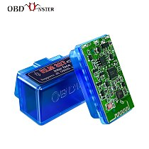 Super Mini ELM327 Bluetooth V2.1/ V1.5 OBD2 Scanner Car Diagnostic Tool ELM 327 For Android/ Windows PC Full OBDII Protocol