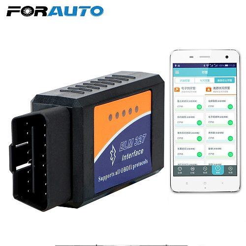 FORAUTO ELM327 V2.1 OBD2 Code Reader Bluetooth ELM327 OBDII Auto Diagnostic Tool For Android OBD2 Car Diagnostic Tool Scanner