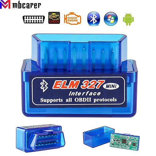 V1.5 ELM327 Bluetooth OBD2 Automotive Scanner Auto Code Reader Car Diagnostic Tool For Android Windows Symbian English